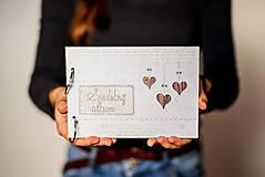 Papiernictvo - Fotoalbum svadobný * kniha hostí A5 - voliteľný nápis - 11315700_