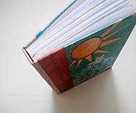 """Papiernictvo - ART zápisník * diár * sketchbook RUČNE ŠITÝ A5 ,,Lúka plná kvetov"""" - 11317139_"""