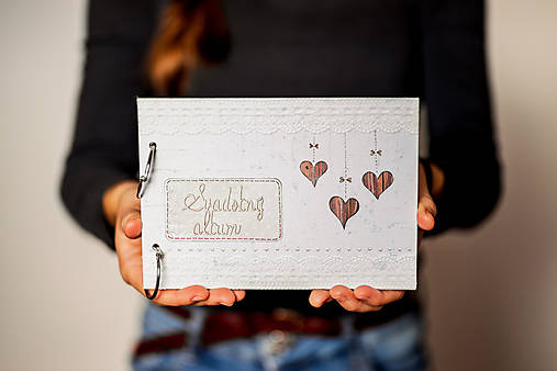 Fotoalbum svadobný * kniha hostí A5 - voliteľný nápis