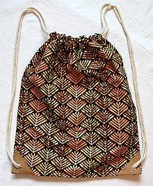 Batohy - Látkový mestský batoh africká buš - 11320303_