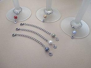 """Pomôcky - Farebné """"šperky"""" na rozlišovanie stopkových, vínových pohárov - chirurgická oceľ - 6 ks - 11316551_"""