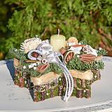 Dekorácie - Vianočný svietnik - 11317460_