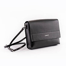 Kabelky - Leather bag black - 11318993_