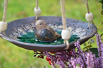 Socha - Závěsné pítko pro ptáčky se sklem IV. - 11319513_