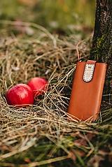 Na mobil - Kožené puzdro na telefón Folk horčicové - 11316025_