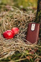 Na mobil - Kožené puzdro na telefón Folk hnedé - 11316051_