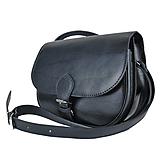 Lovecká kabelka z pravej kože v čiernej farbe