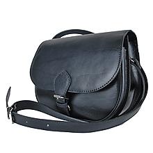 Kabelky - Lovecká kabelka z pravej kože v čiernej farbe - 11317994_