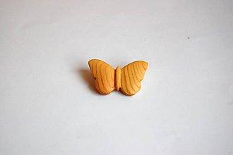 Odznaky/Brošne - Drevená brošňa - Smrekový motýľ 3 - 11319033_