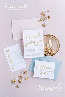 Papiernictvo - Svadobné oznámenia - Elegant gold - 11319014_
