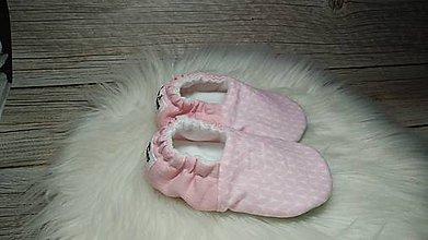 Topánočky - Capačky ružové klásky 9-12 mesiacov - 11320698_