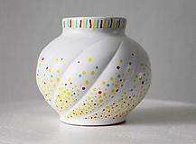 Dekorácie - Vázička - Tricolor bodky - 11317724_