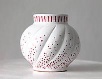 Dekorácie - Vázička - Červené bodky - 11317777_