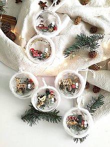 Dekorácie - Vianočné gule 6 ks vianočná klasika - 11318643_