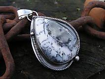 Náhrdelníky - Strieborný prívesok Ag925 Dendritický opál - 11315768_