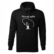 Mikiny - Mikina pánska Rodený rybár (S - Čierna) - 11318281_