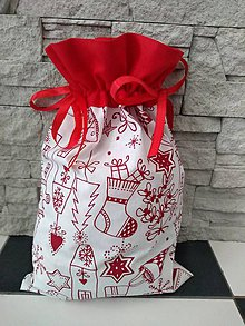 Úžitkový textil - Mikulášske/vianočné vrecko domčeky - 11317217_