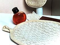 Úžitkový textil - Obojstranná umývacia žinka natur. - 11319016_