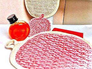 Úžitkový textil - Obojstranná umývacia žinka ružová. - 11320495_