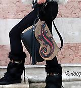 Kabelky - Ručně šitá kožená kabelka California - 11320056_