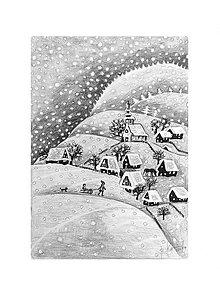 Kresby - let snow ....❄❄❄ - 11316693_