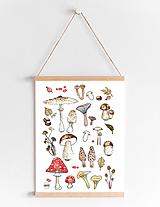 Detské doplnky - Art Print - huby - 11315648_