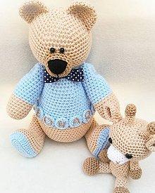 Hračky - Macko s menom a žirafka Moma - 11318014_