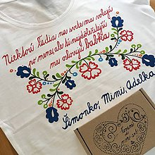 """Tričká - Folkové dámske maľované tričko (s nápisom """"(na želanie)"""") - 11320423_"""