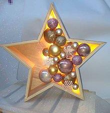 Dekorácie - Vianočná hviezda _ svietiaca - 11318853_