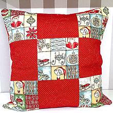 Úžitkový textil - Vankúš Vianočný (prešívané štvorce) - 11318718_