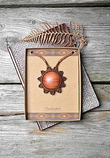 Náhrdelníky - Drevený náhrdelník slnko •Hrejivý pocit• - 11317619_