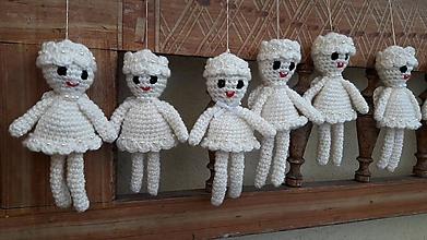 Dekorácie - anjelik 15 cm dekorácia - 11319911_
