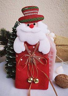 Obalový materiál - Vianočné darčekové vrecúško Mikuláš - 11319237_
