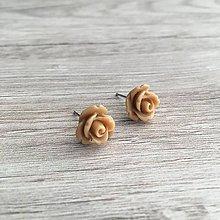 Náušnice - Ruže Béžové - 11322982_