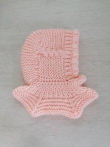 Detské čiapky - Pletená kukla pre dievčatko - 11321286_