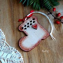 Dekorácie - Vianočná ozdoba Čižmička - 11324328_