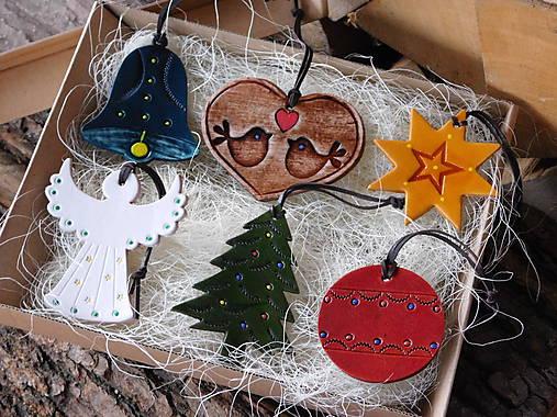 Kožené vianočné ozdoby