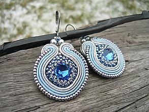 Náušnice - Soutache náušnice Ľadovo modré - 11324885_
