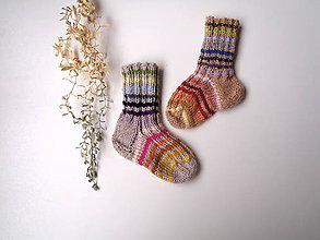 Topánočky - Detské ponožky dúhové - 11323406_