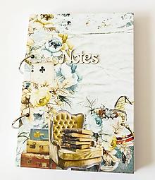 Papiernictvo - zápisník vo vintage štýle - 11321044_