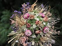 Dekorácie - Kytica zo sušených kvetín - 11323275_