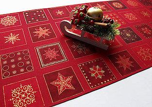 Úžitkový textil - Vianočný obrus (A) - štóla 107 x 40 cm - 11324526_