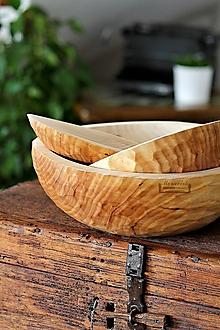 Nádoby - Set  drevených lipových zdobených mís - 11322736_