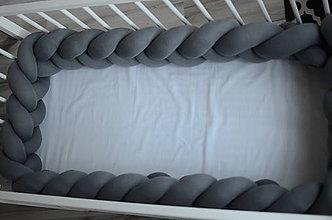 Textil - Detský mantinel stredne  šedý 350 - 11320981_