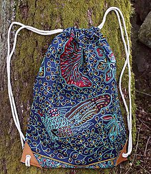 Batohy - Látkový mestský batoh modrý - 11323974_