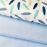 Textil - tenučké bledomodré pásiky, 100 % bavlna Nemecko, šírka 140 cm - 11321042_