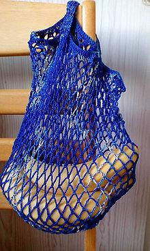 Nákupné tašky - háčkovaná sieťovka - 11324048_
