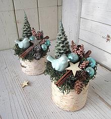 Dekorácie - vianočná dekorácia na pníčku - 11323619_