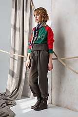 Mikiny - Mikina Identity Dictat green-red - 11324846_