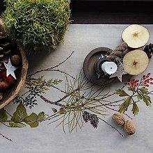 Úžitkový textil - Štóla na stôl - natur - 11322502_